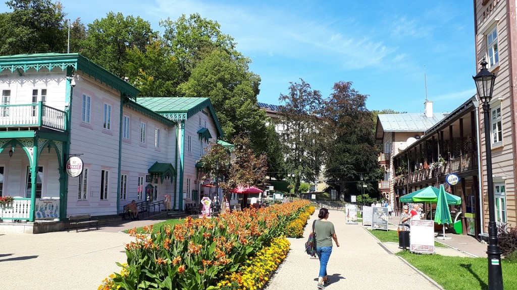 deptak i bazar w Iwoniczu Zdroju